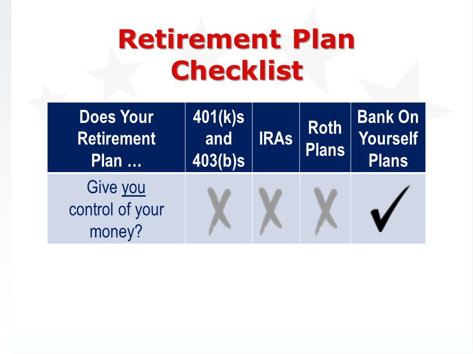 Does Your Retirement Plan …