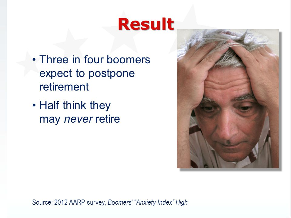 Result Three in four boomers expect to postpone retirement