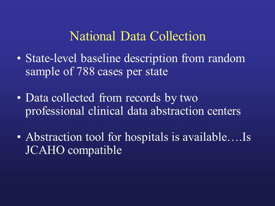 National Data Collection