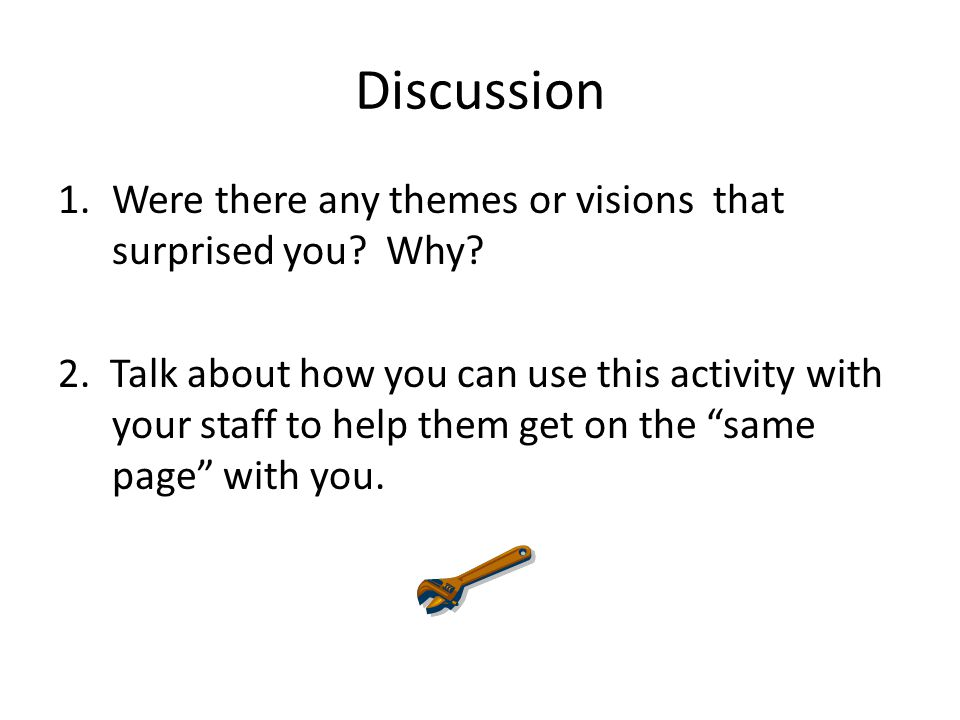 Discussion Were there any themes or visions that surprised you Why