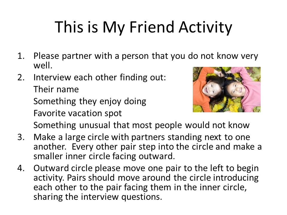 This is My Friend Activity