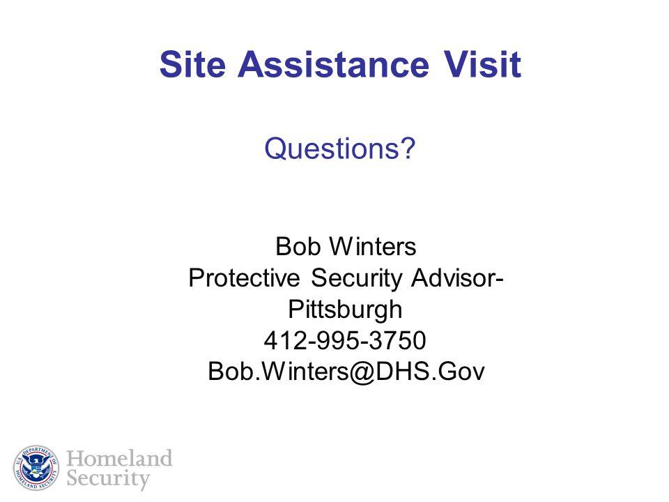 Site Assistance Visit Questions