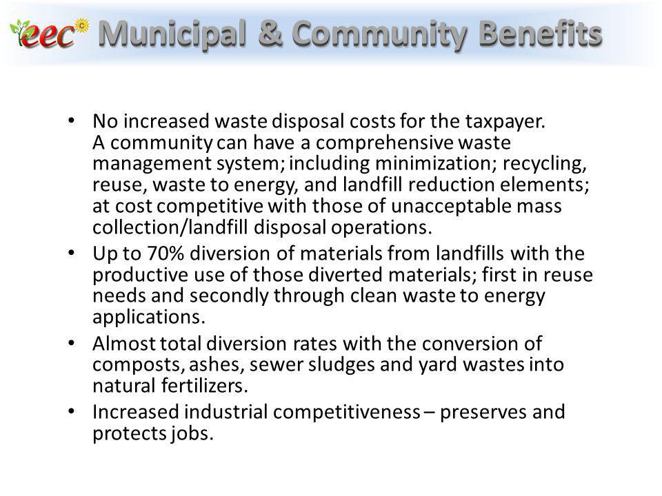 Municipal & Community Benefits