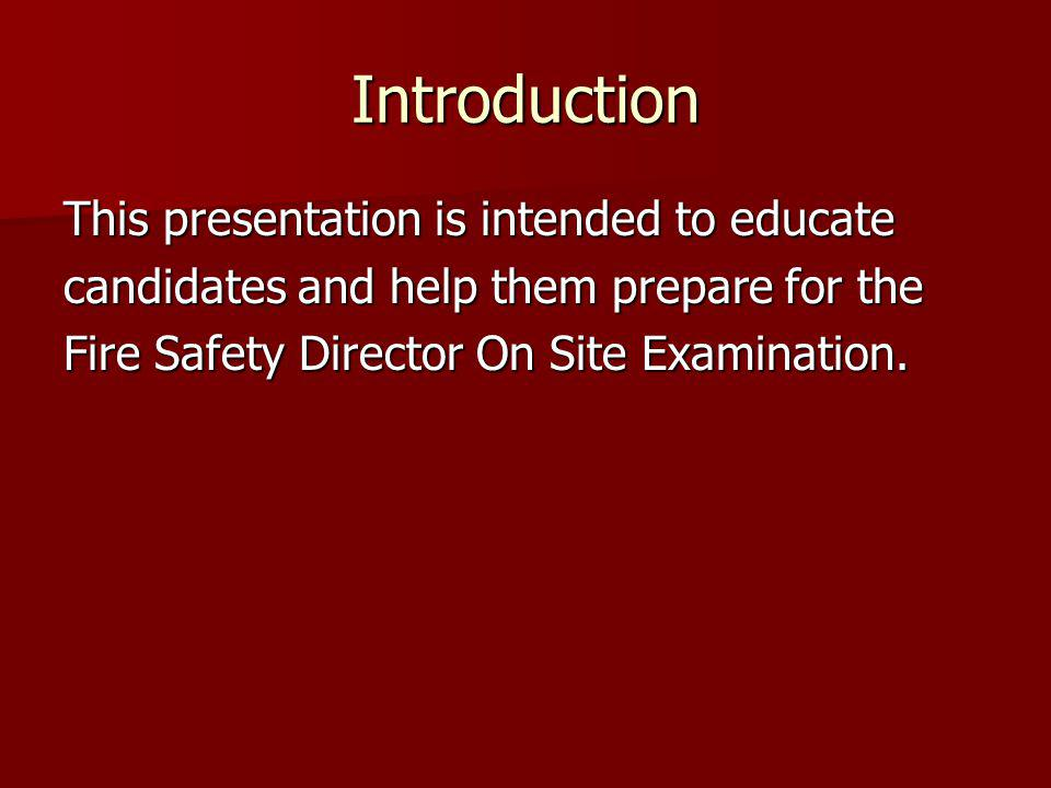 Introduction This presentation is intended to educate