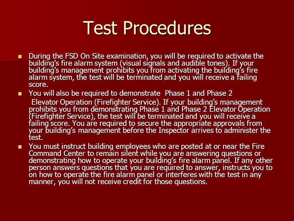 Test Procedures