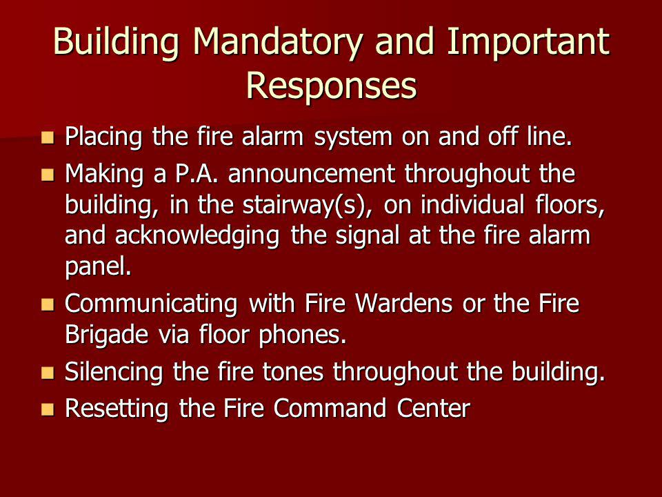 Building Mandatory and Important Responses