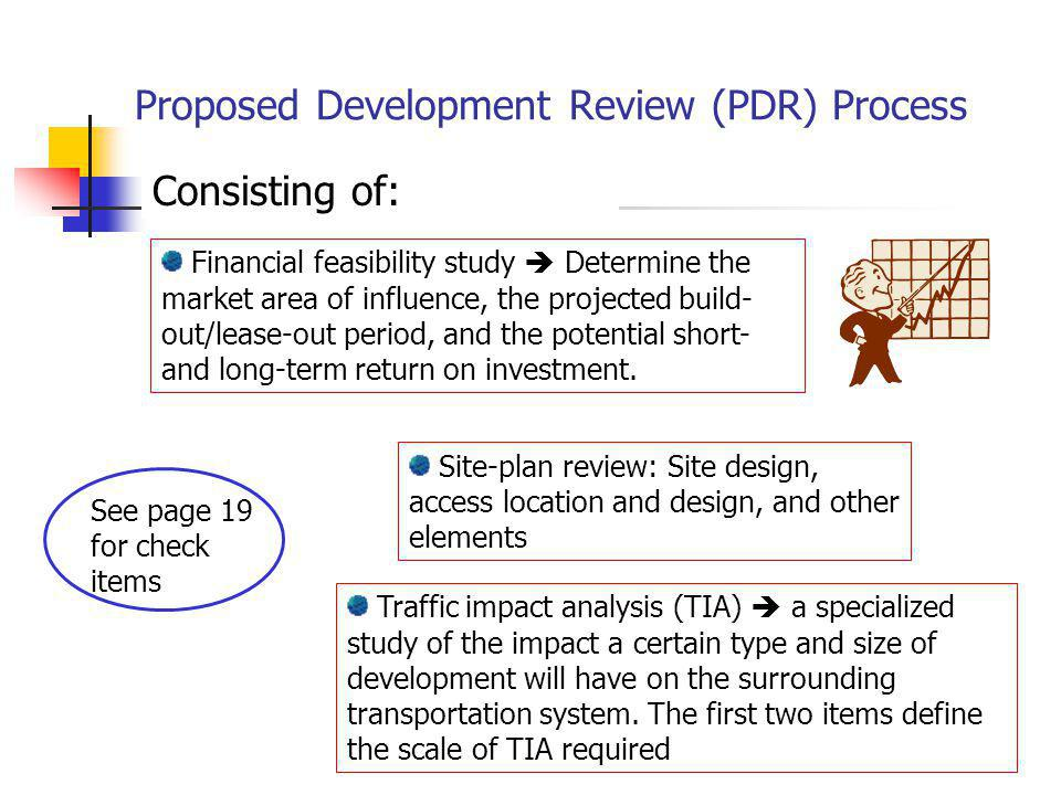 Proposed Development Review (PDR) Process
