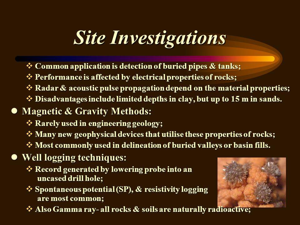 Site Investigations Magnetic & Gravity Methods: