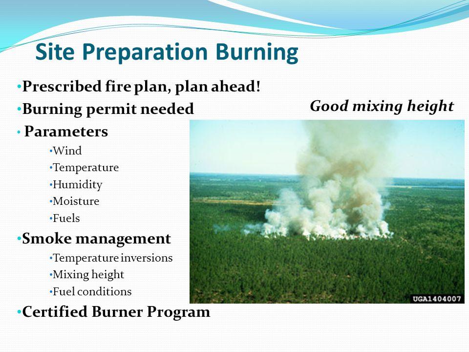 Site Preparation Burning