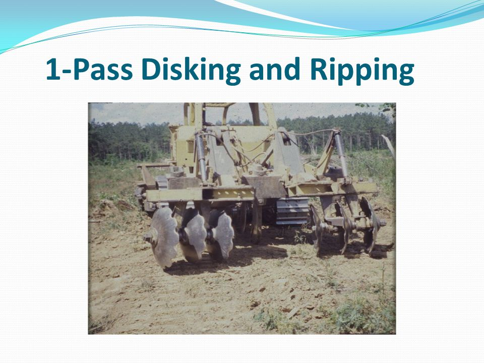 1-Pass Disking and Ripping