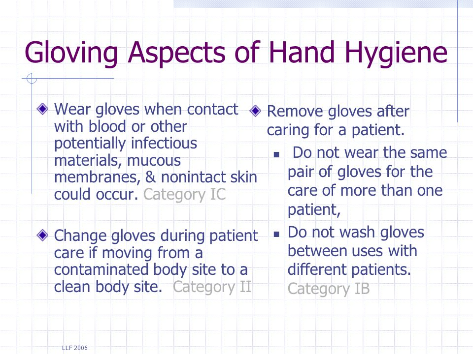 Gloving Aspects of Hand Hygiene