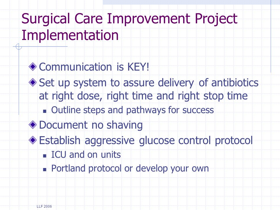 Surgical Care Improvement Project Implementation