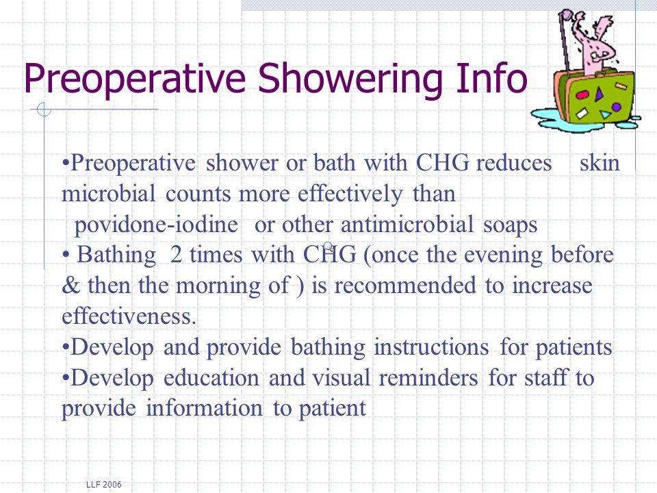 Preoperative Showering Info