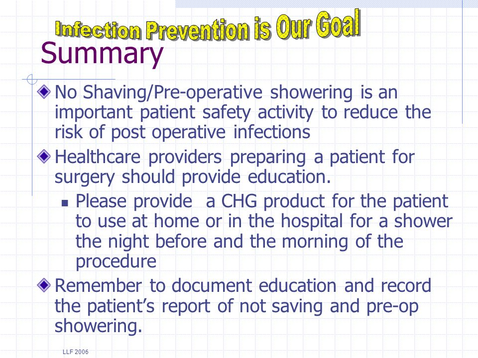 Infection Prevention is Our Goal