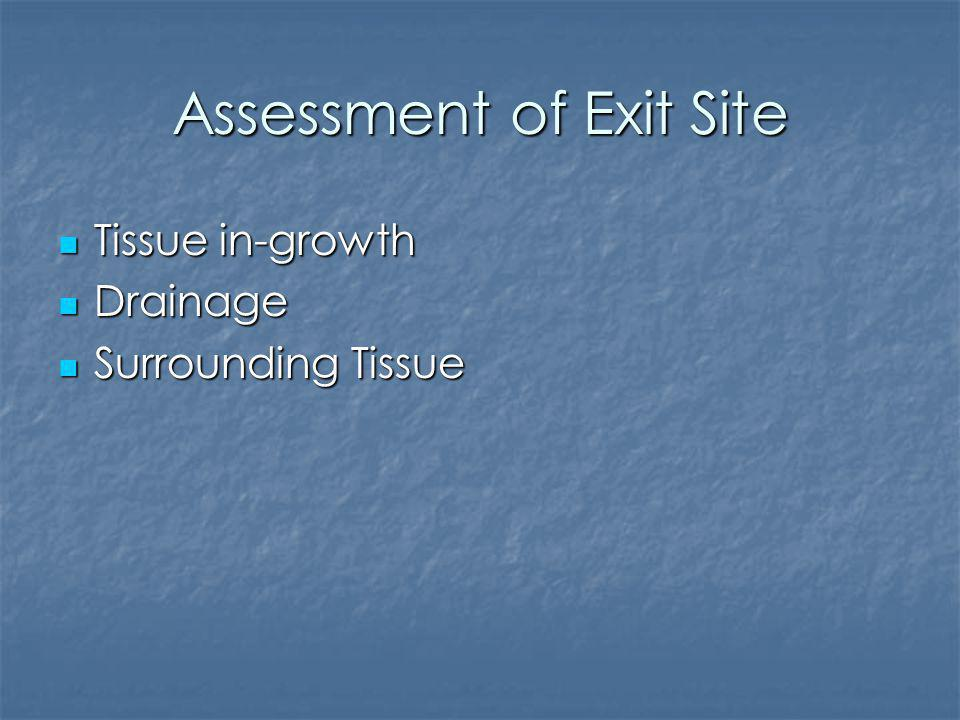 Assessment of Exit Site