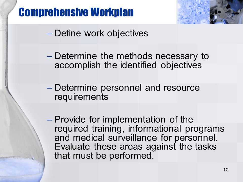 Comprehensive Workplan