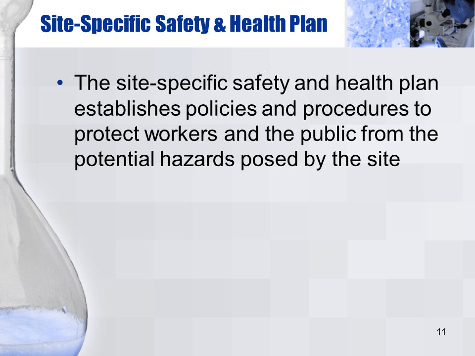 Site-Specific Safety & Health Plan
