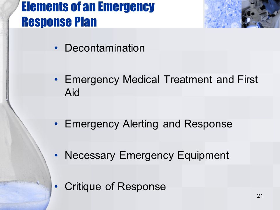 Elements of an Emergency Response Plan