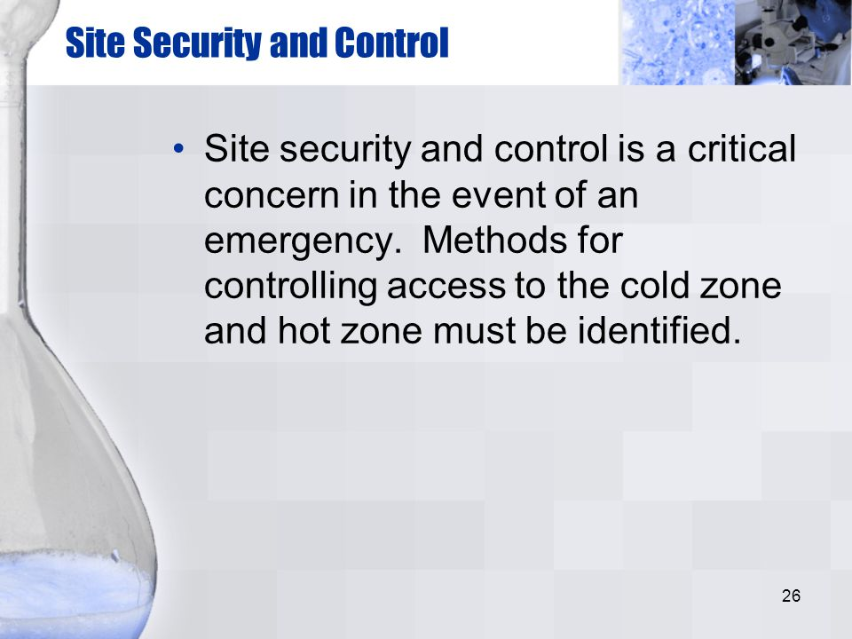 Site Security and Control