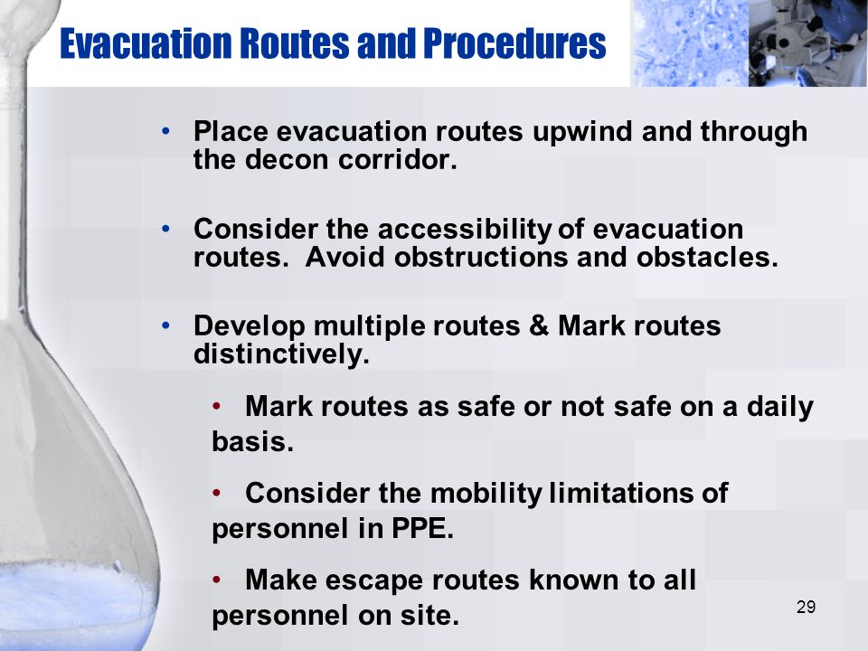 Evacuation Routes and Procedures