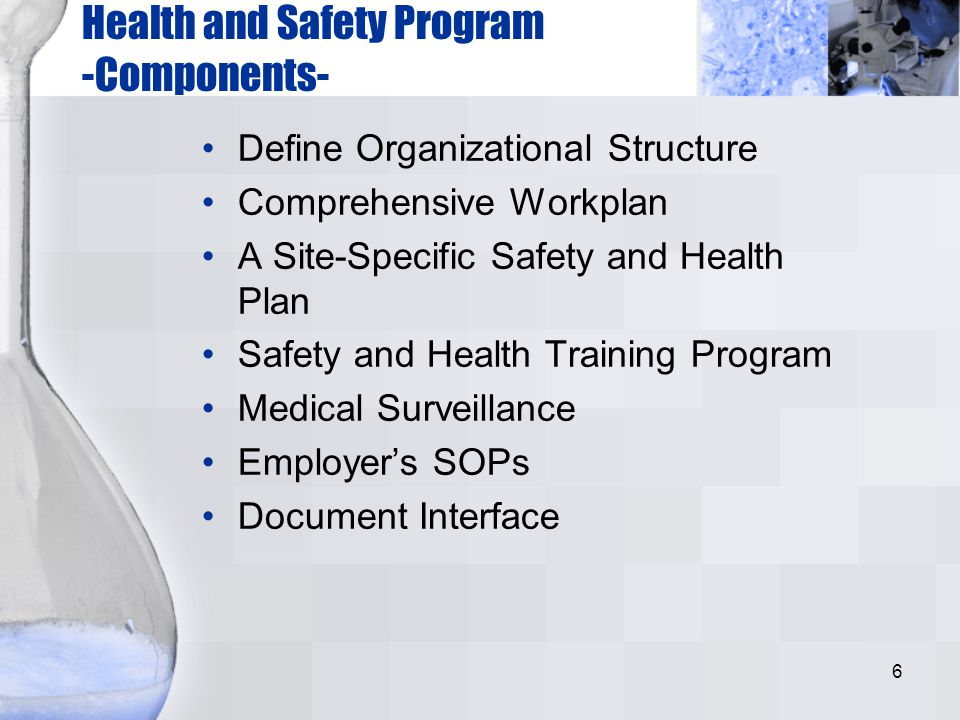 Health and Safety Program -Components-