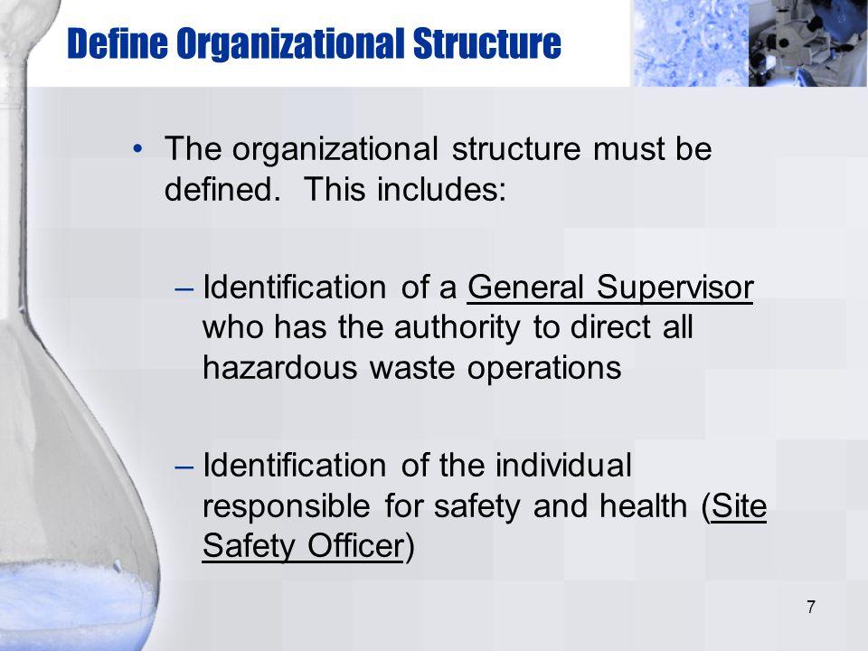 Define Organizational Structure