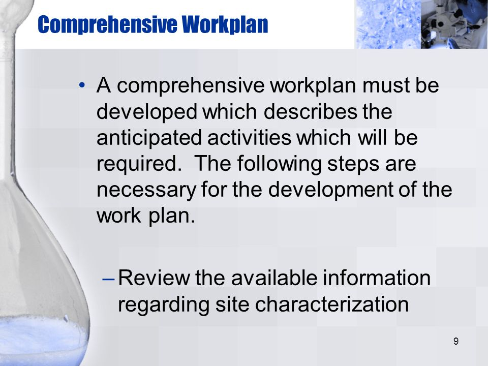 Comprehensive Workplan
