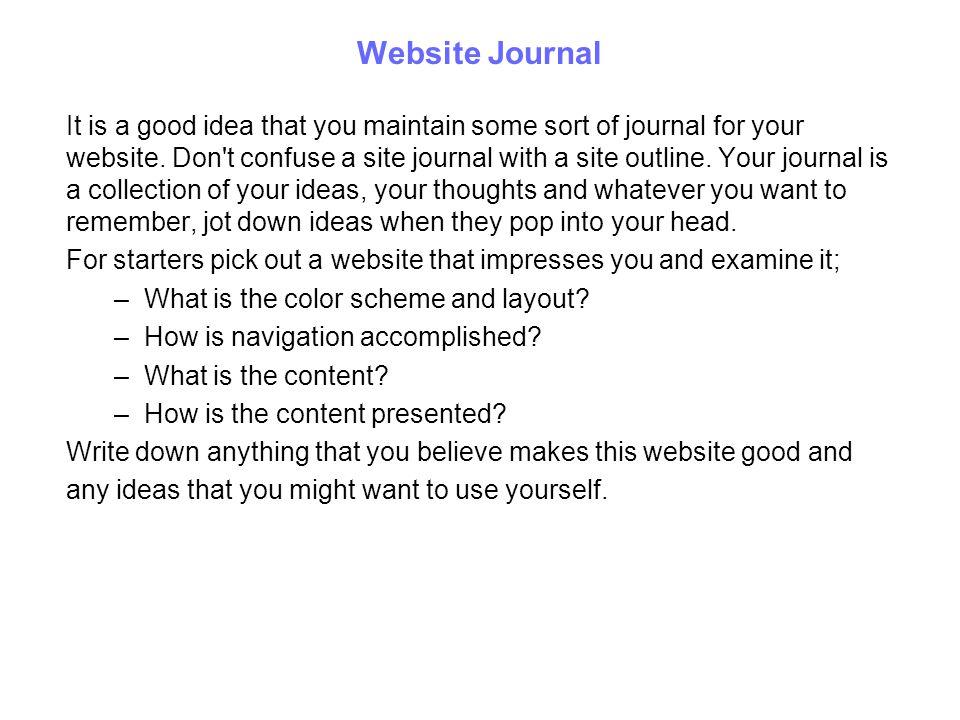 Website Journal