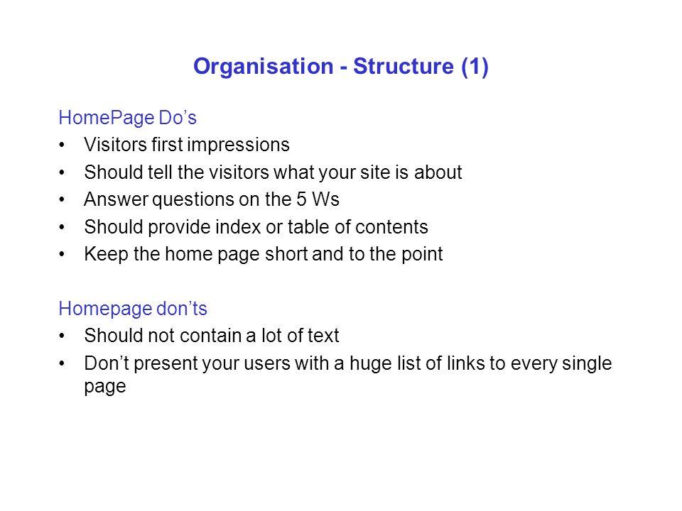 Organisation - Structure (1)