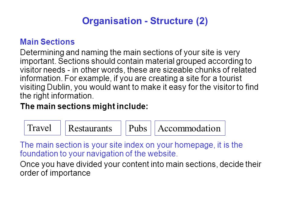 Organisation - Structure (2)