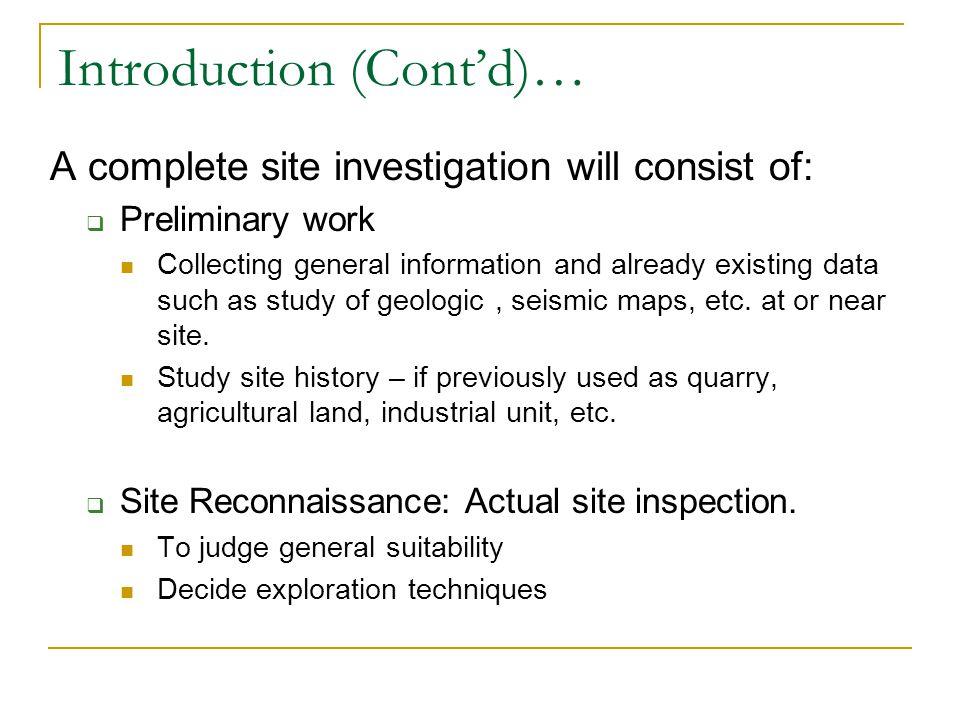 Introduction (Cont'd)…
