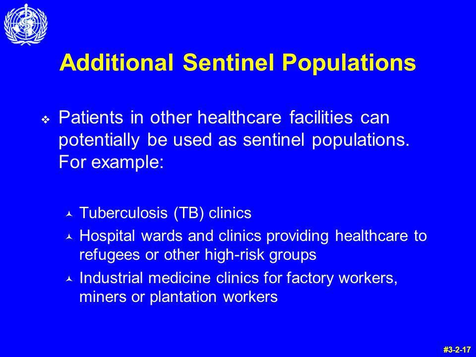 Additional Sentinel Populations