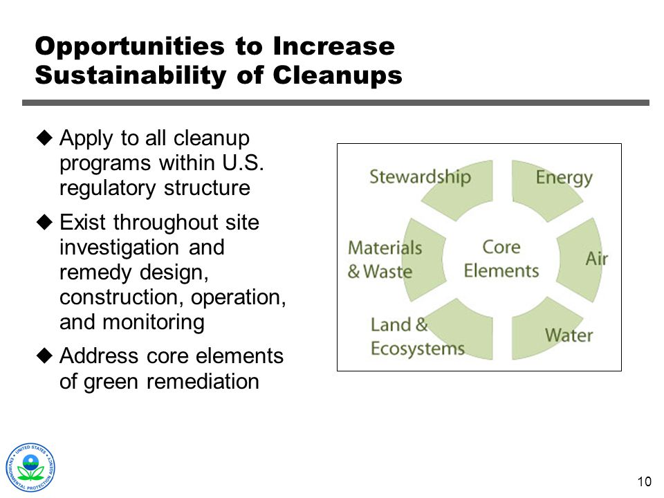 Opportunities to Increase Sustainability of Cleanups