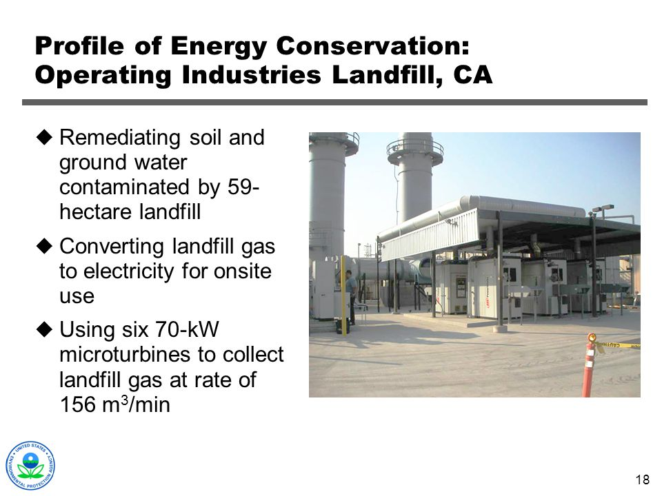 Profile of Energy Conservation: Operating Industries Landfill, CA