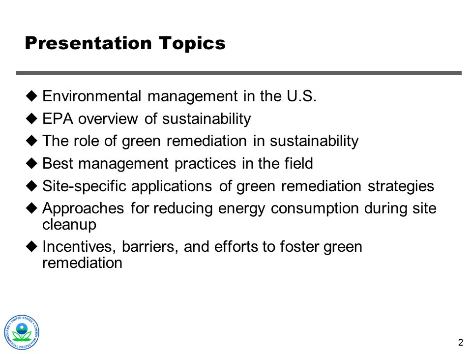 Green Remediation: Evolving Best Management Practices ...