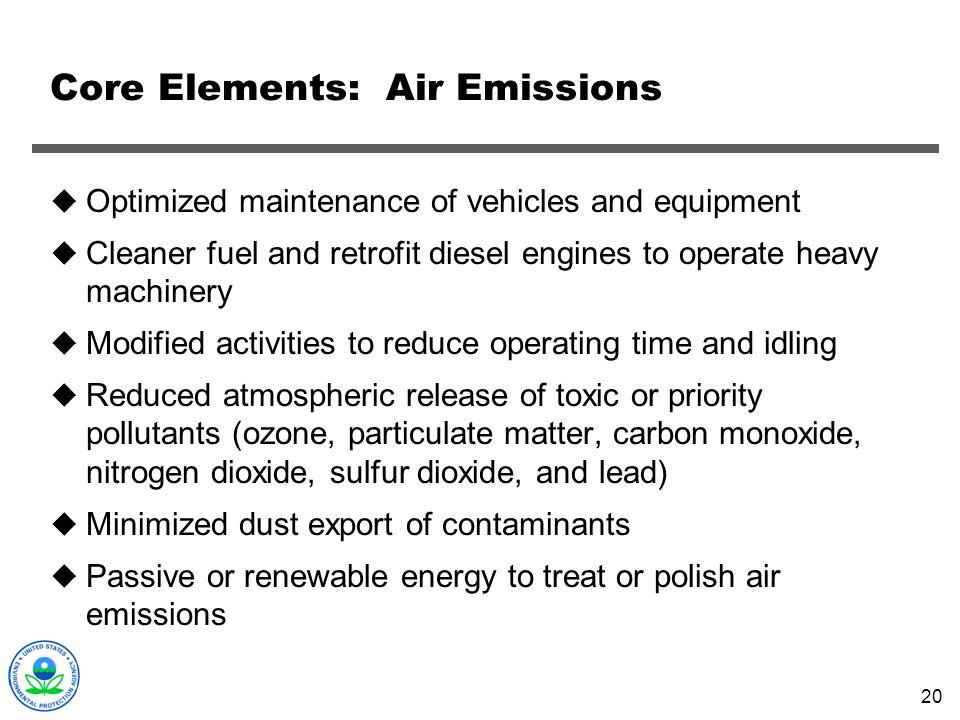 Core Elements: Air Emissions