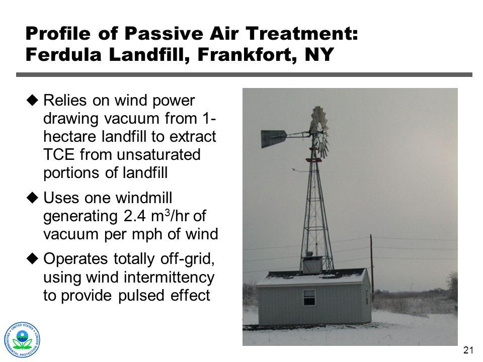 Profile of Passive Air Treatment: Ferdula Landfill, Frankfort, NY