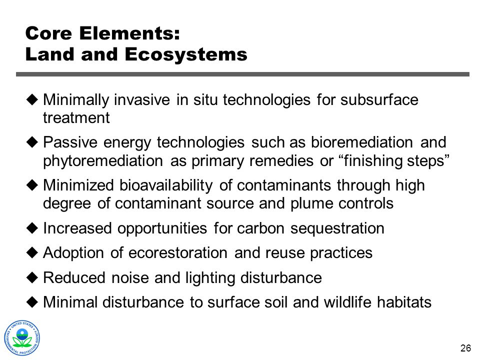 Core Elements: Land and Ecosystems