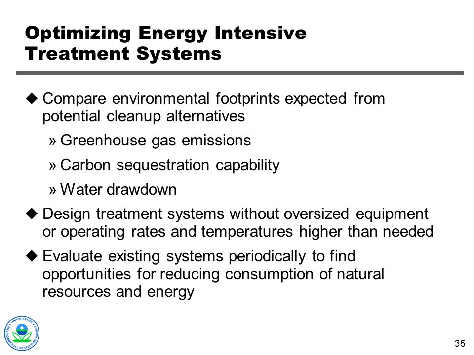 Optimizing Energy Intensive Treatment Systems