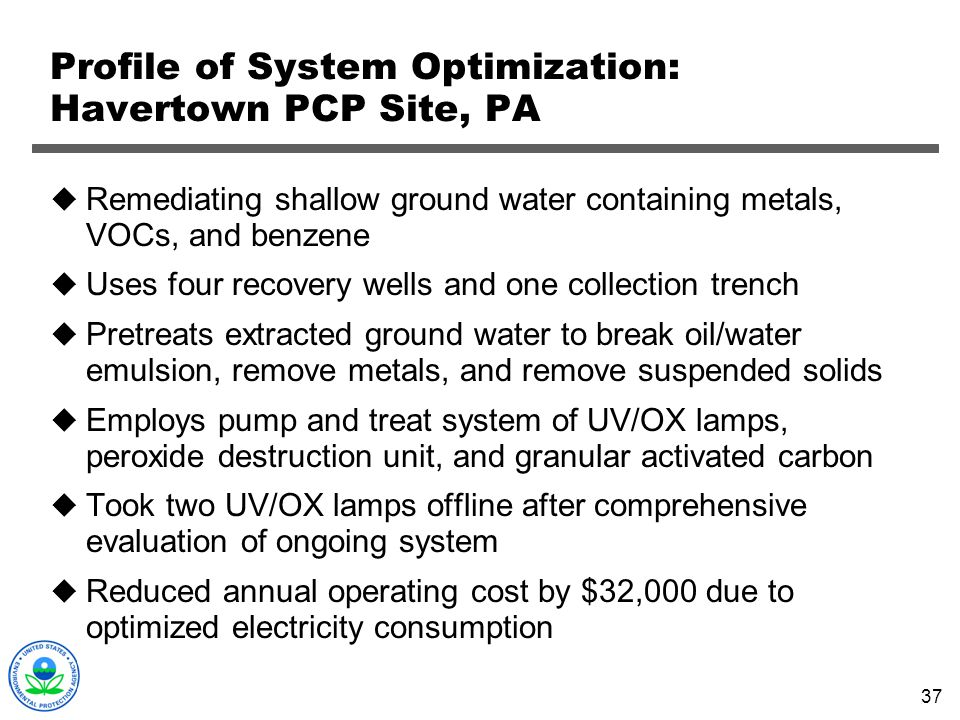 Profile of System Optimization: Havertown PCP Site, PA