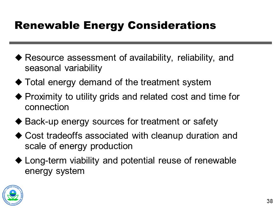Renewable Energy Considerations