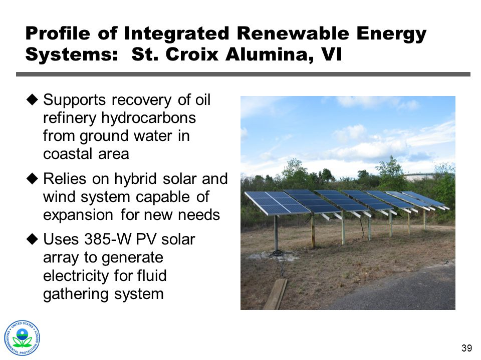 Profile of Integrated Renewable Energy Systems: St. Croix Alumina, VI