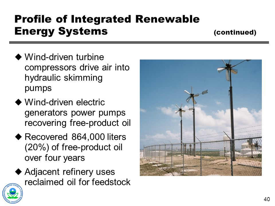 Profile of Integrated Renewable Energy Systems (continued)