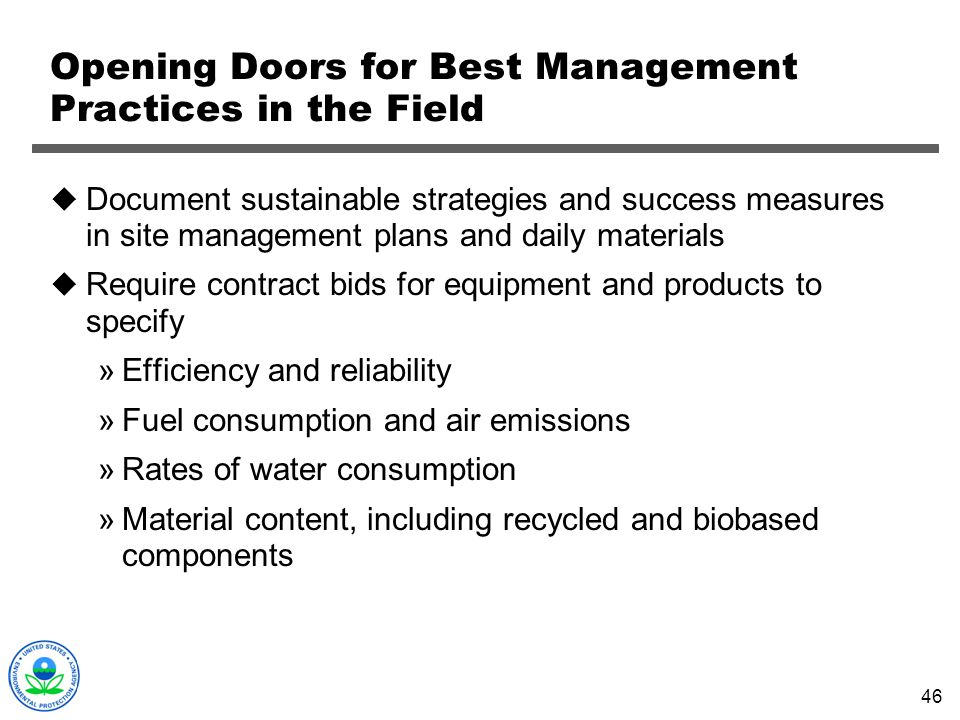 Opening Doors for Best Management Practices in the Field