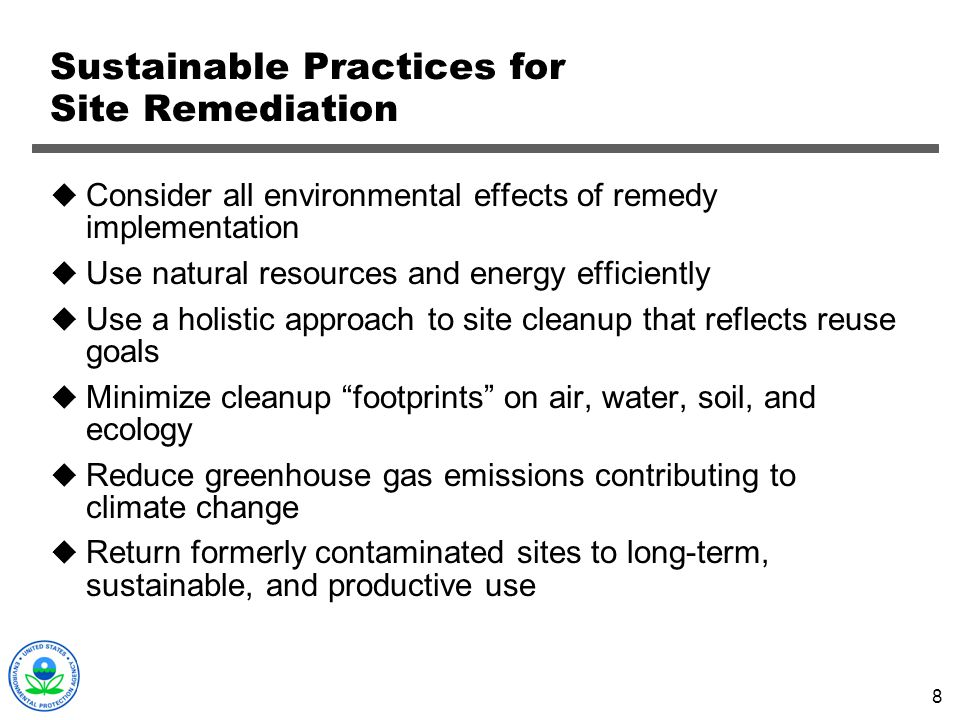Sustainable Practices for Site Remediation