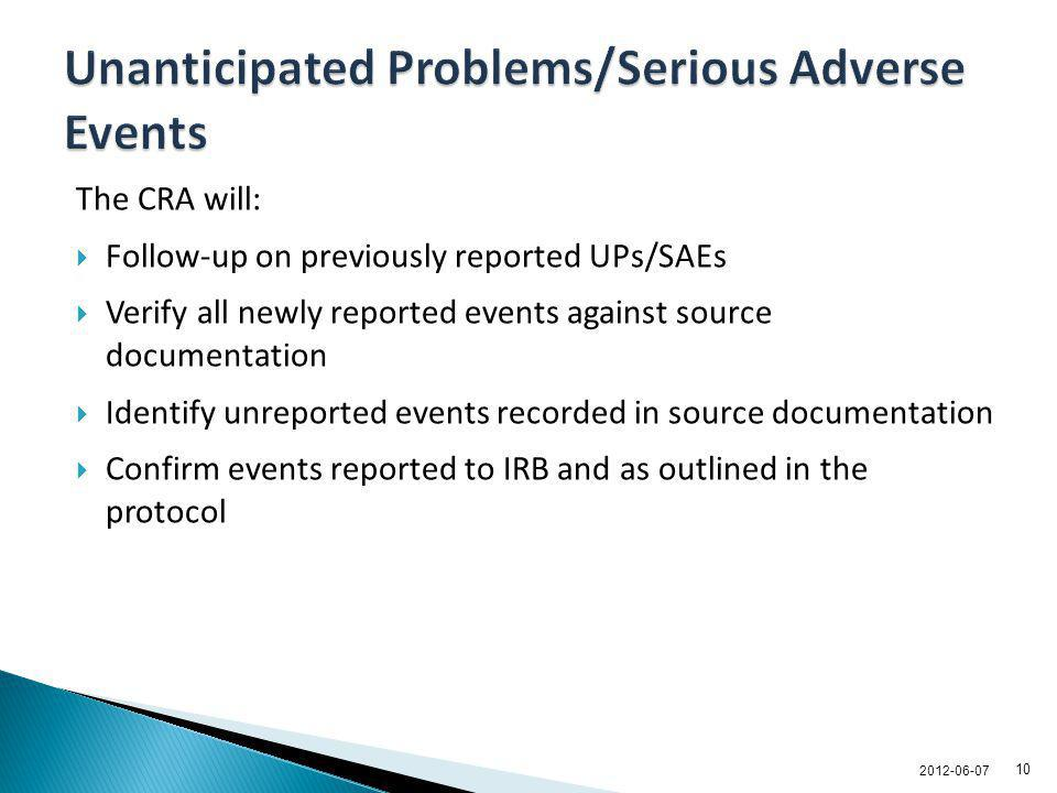 Unanticipated Problems/Serious Adverse Events
