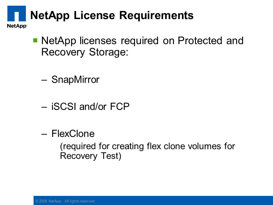 NetApp License Requirements
