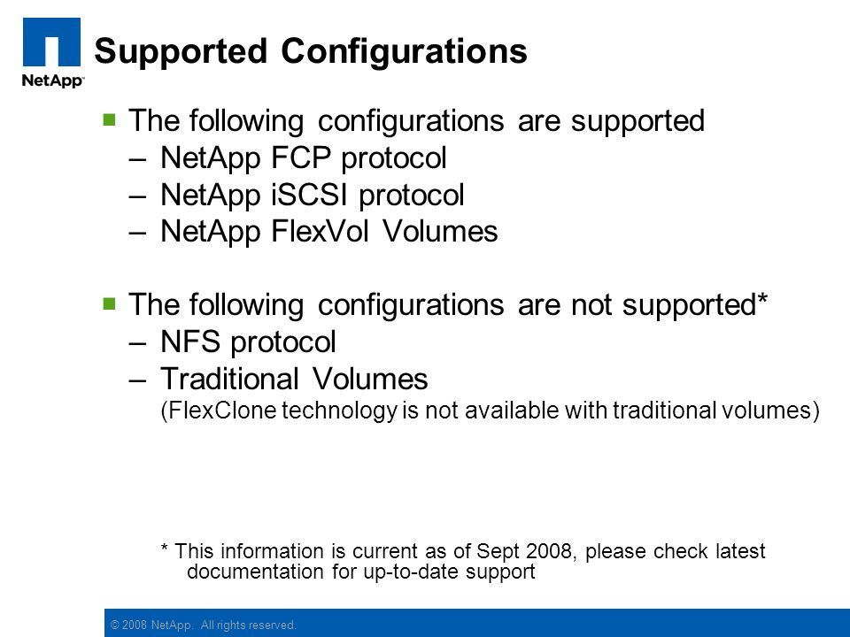 Supported Configurations
