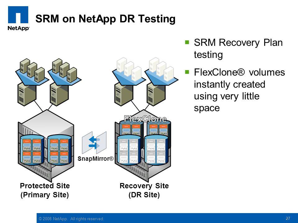 SRM on NetApp DR Testing