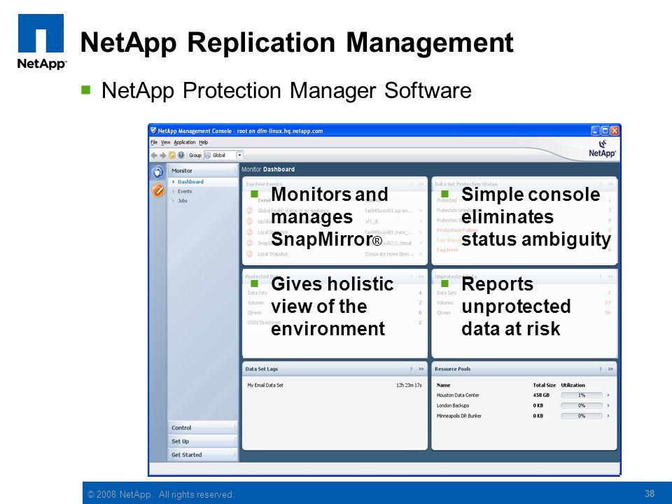 NetApp Replication Management